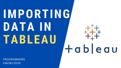 Tableau Tutorial for Beginners 5 – Importing Data in Tableau