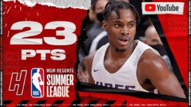 Davion Mitchell NBA DEBUT 🔥 23 Points Full Highlights vs Warriors   2021 Summer League